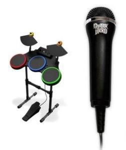 Guitar Hero World Tour - Bateria e Microfone